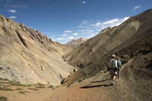 Trekking between the Lar La (4680m) and Pandang La (5150m), Zanskar Range, Ladakh, India (Day 8).