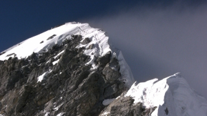 Hillary Step and summit ridge from the South Summit of Everest